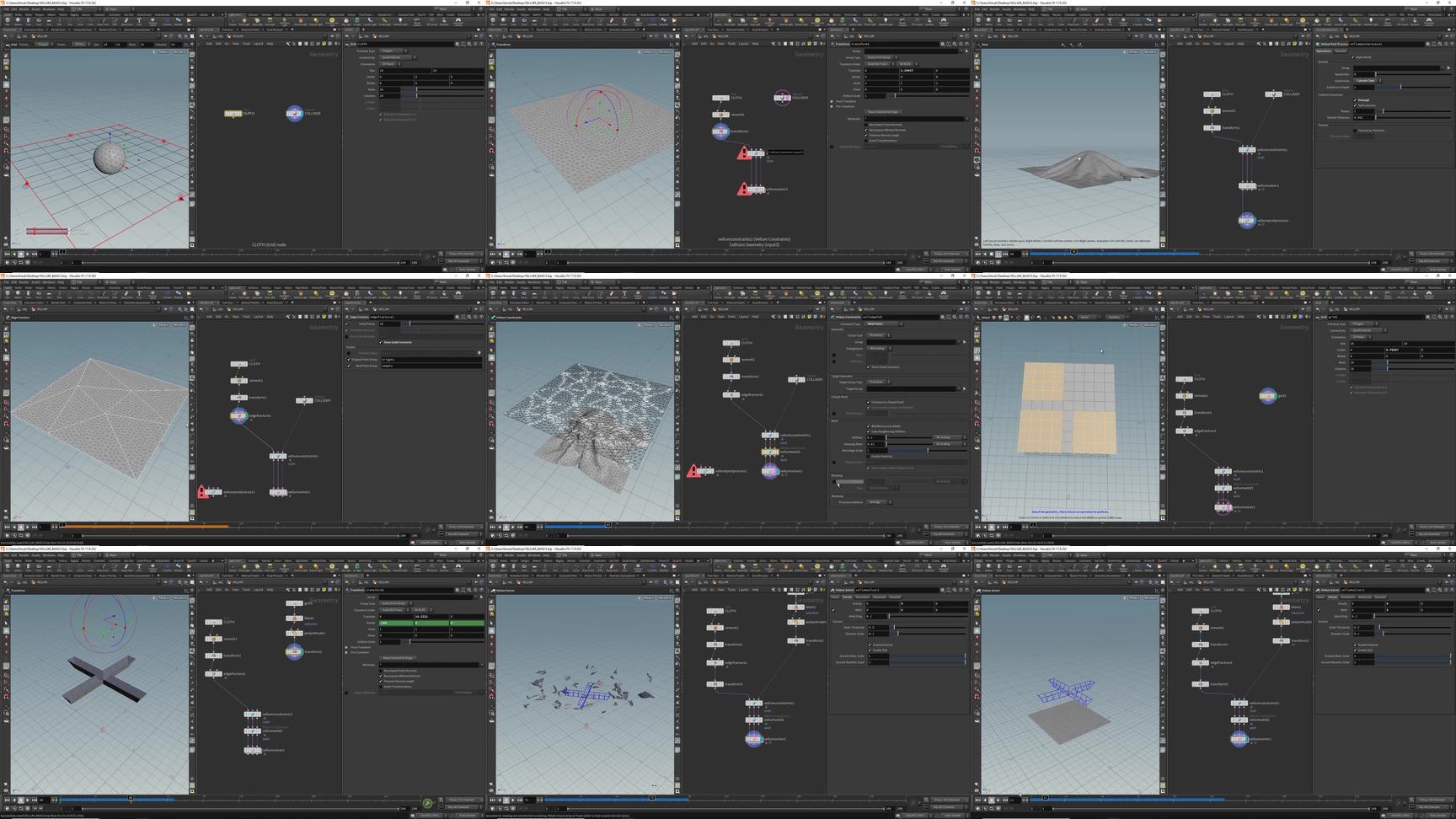 Vellum的基础知识Houdini 17 – Basics in Vellum – VFX FORCE