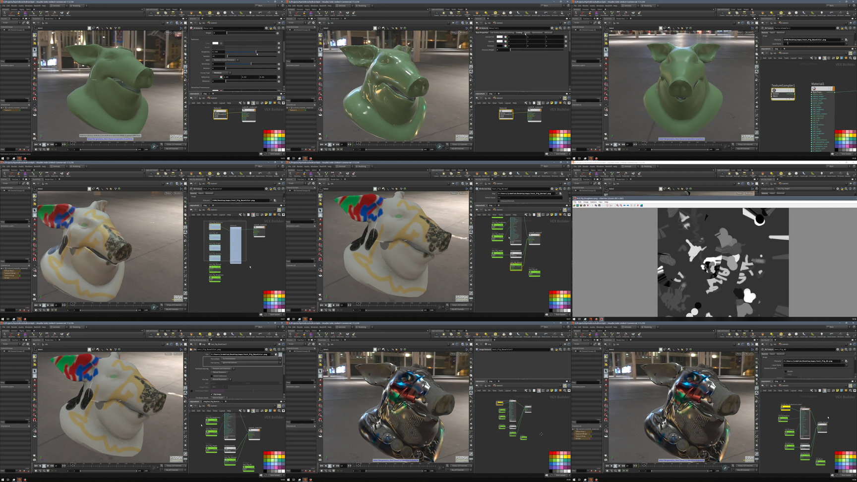 Houdini Redshift材质可视化工具Houdini Redshift material in